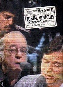 DVD - JOBIM, VINICIUS & TOQUINHO COM MIUCHA - LIVE@RTSI - PREÇO PROMOCIONAL