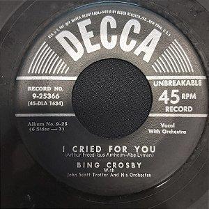 COMPACTO - Bing Crosby - My Melancholy Baby / I Cried For Love (Importado USA)