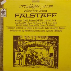 LP - Giuseppe Verdi – Highlights from Falstaff (Importado US)