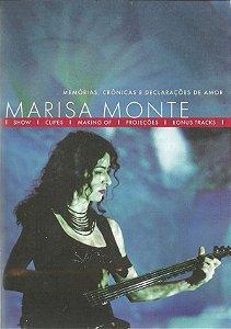 DVD -  MARISA MONTE - MEMÓRIAS, CRÔNICAS E DECLARAÇÕES DE AMOR
