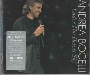 DVD -  Andrea Bocelli ‎– Under The Desert Sky Cd + DVD