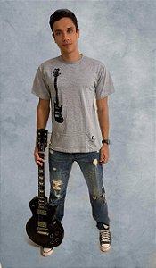 Camiseta Bass - cinza - pronta entrega