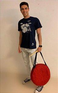 Camiseta Bateria - azul marinho - pronta entrega