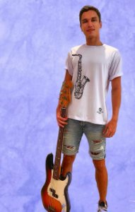 Camiseta Sax - branca - pronta entrega