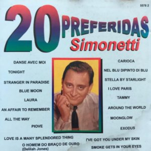 CD - Simonetti - 20 Preferidas