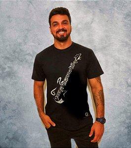 Camiseta Guitarra - preta - pronta entrega