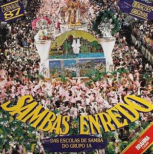 LP - Various – Sambas De Enredo Das Escolas De Samba Do Grupo 1A - Carnaval 87