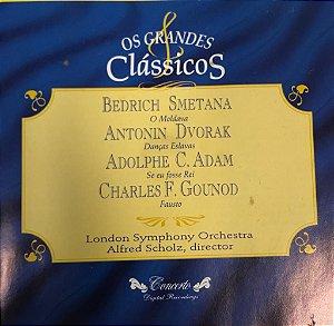CD - Bendrich Smetana, (O Moldava). Antonin Dvorak (Danças Eslavas), Adolphe C. Adam (Se Eu Fosse Rei, Charles F. Gounod (Fausto) / London Symphony Orchestra, Alfred Schol, Director (Coleção Os Grandes Clássicos)