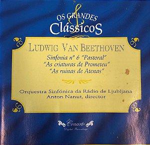 """Ludwig Van Beethoven - Sinfonia N.6 """"Pastoral"""" , """"As Criaturas de Prometeu"""", """"As Ruínas de Atenas"""" / Os Grandes Clássicos"""