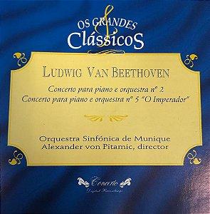 "Ludwig Van Beethoven - Concerto Para Piano e Orquestra N.2 - Concerto Para Piano e Orquestra N.5 ""O Imperador"" / Os Grandes Clássicos"