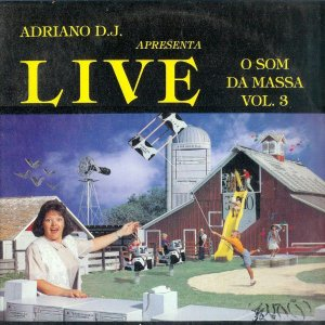 LP - Various ‎– Live - O Som Da Massa Vol. 3