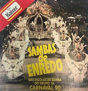 LP - Various - Sambas de Enredo das Escolas de Samba do Grupo 1A - Carnaval 90