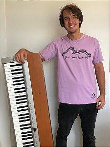 Camiseta Piano - lilás - pronta entrega