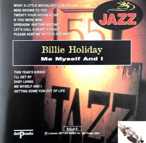 CD - Billie Holiday ‎– Me Myself And I - IMP