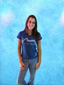 Camiseta Piano - Rio - Baby Look - Azul Petróleo - pronta entrega (Gola V)