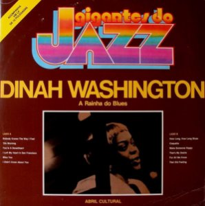 LP - Dinah Washington ‎– A Rainha Do Blues