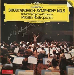 Shostakovich* . Mstislav Rostropovich, National Symphony Orchestra – Shostakovich Symphony No. 5