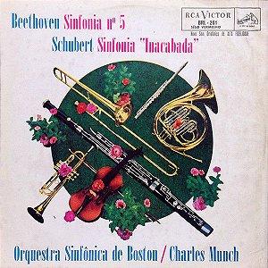 "Beethoven, Schubert, Charles Munch / Orquestra Sinfônica De Boston – Sinfonia nº5 / Sinfonia ""Inacabada"""