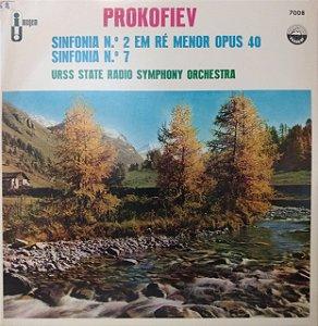 PROKOFIEV - SINFONIA N 2 EM RE MENOR OPUS 40 - SINFONIA N 7 - URSS STATE RADIO SYMPHONY ORCHESTRA