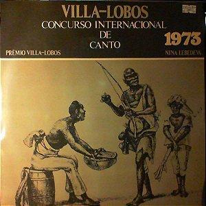 LP - Nina Lebedeva, Villa Lobos – Concurso Internacional De Canto 1973