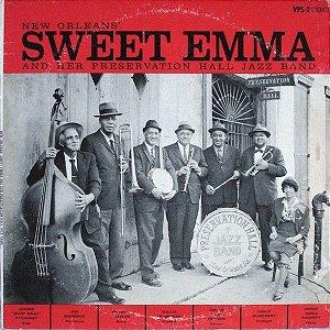 LP - New Orleans Sweet Emma And Her Preservation Hall Jazz Band - Importado (US) e Autografado pelos músicos da banda