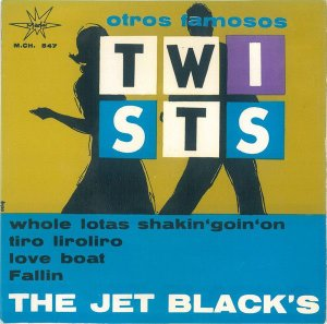 "Comp - The Jet Black's ‎– Otros Famosos Twists (Vinyl, 7"", Single)"