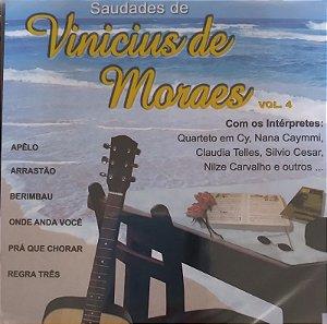 CD- Various - Saudades de Vinícius de Moraes -Vol. 4 -  (Novo - Lacrado)