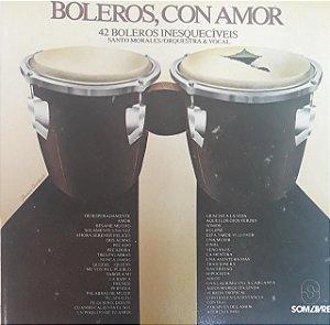 CD - Santo Morales, Orquestra e Vocal - Boleros con amor (42 boleros inesquecíveis)