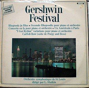 LP - George Gershwin / Orchestre Symphonique De St Louis Conducted By L. Slatkin – Gershwin Festival - Importado (France) (Duplo)