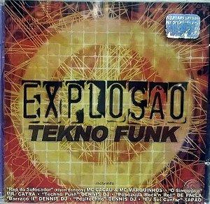 CD - Explosão Tekno Funk (Vários Artistas)