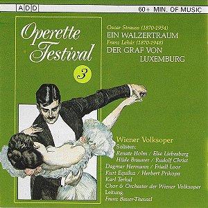 CD - Operette Festival 3. Ein Walzertraum / Der Graf Von Luxemburg (Vários Artistas)