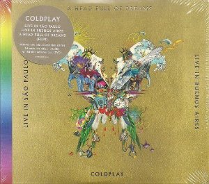 CD +DVD - Coldplay - Live In Buenos Aires + São Paulo + A Head Full Of Dreams - Lacrado -2 cds + 2 dvds) - Digipack (Novo Lacrado)