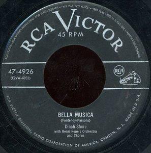 COMPACTO - Dinah Shore - Bella Musica / Blues In Advance (EUA)