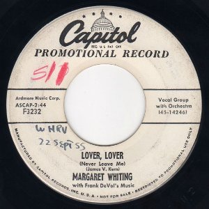 COMPACTO - Margaret Whiting - Lover, Lover  / I Kiss You A Million Times (EUA)