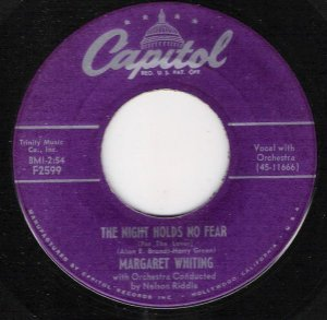 COMPACTO - Margaret Whiting - I Just Love You / The Night Holds No Fear (EUA)