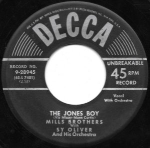 COMPACTO - The Mils Brothers - The Jones Boy  / She Was Five And He Was Ten