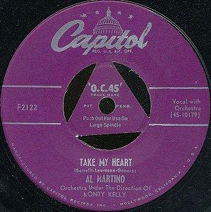 COMPACTO - Al Martino – Take My Heart  / I Never Cared