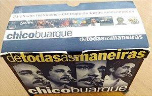 CD (BOX com 24 CDs) - Chico Buarque – De Todas As Maneiras (BOX com 21 CDs + CD triplo de faixas selecionadas)