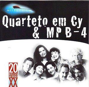 CD - Quarteto Em Cy & MPB4 (Coleção Millennium - 20 Músicas Do Século XX)