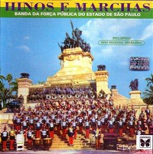 CD - Banda Da Força Pública Do Estado De São Paulo – Hinos E Marchas