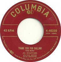 Compacto - Jo Stafford - Thank You For Calling / Where Are You