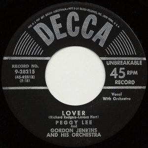 Compacto - Peggy Lee - Lover / You Go To My Head