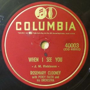 Compacto - Rosemary Clooney - When I See You / It Just Happened To Happen To Me