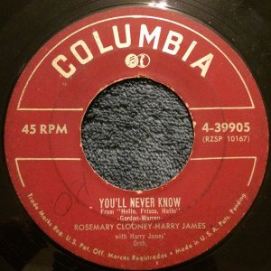 Compacto - Rosemary Clooney - You'II Never Know / The Continental (You Kiss While You're Dancing)