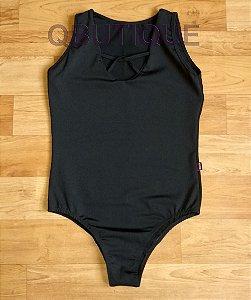 Body Liso preto com Detalhe Trançado
