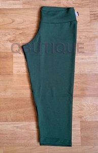 Calça Corsário Tecido Liso Verde Militar