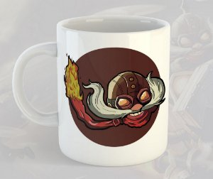 Caneca Corki League of Legends