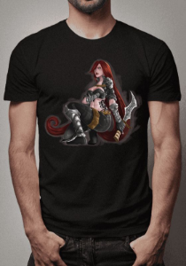 Camiseta Katarina Warrior League of Legends