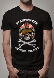 Camiseta Starfighter Rogue Pilots Star Wars