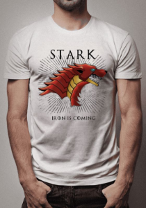 Camiseta Tony Stark Iron Is Coming